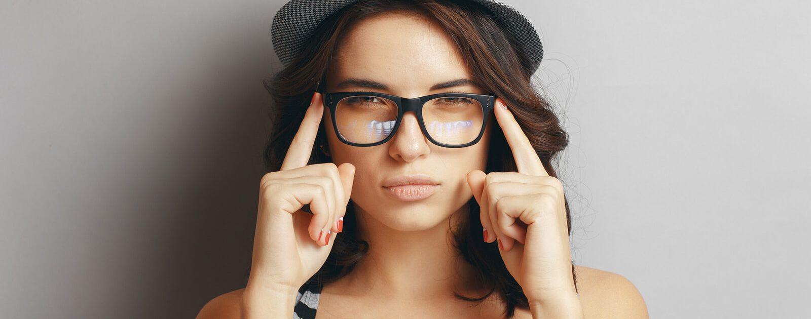 Augenlasern macht Brillen unnötig.