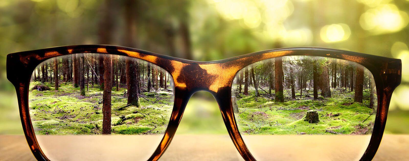 Brillen können bei Fehlsichtigkeit helfen