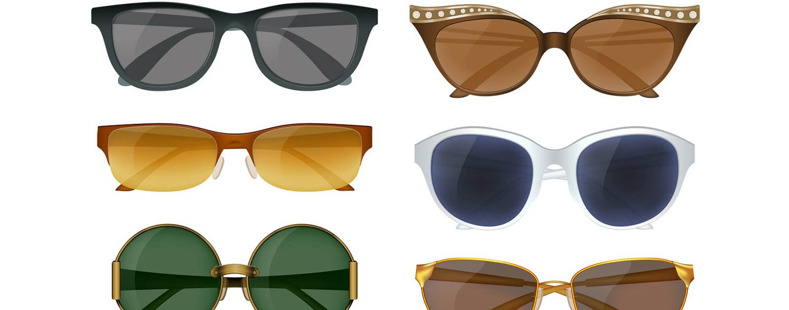 Es gibt viele verschiedene Arten von Sonnenbrillen.