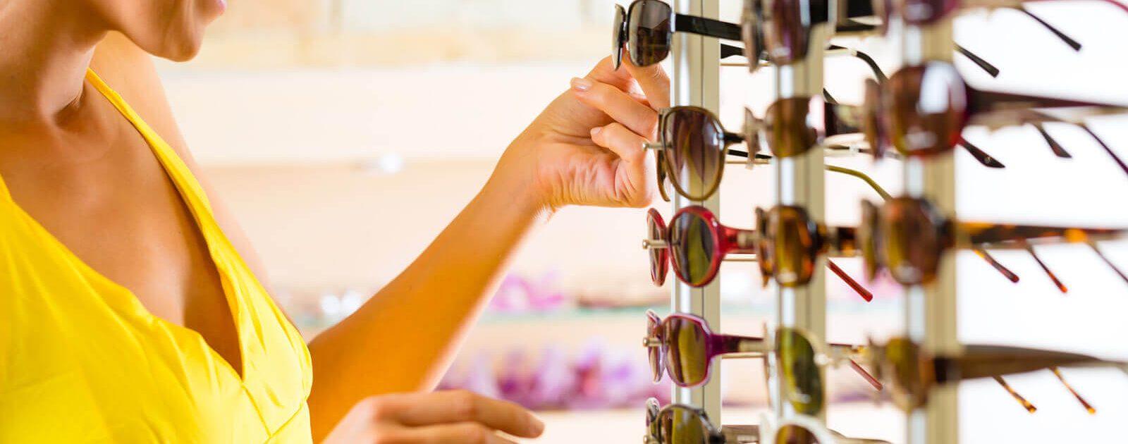 Bei Sonnenbrillen in Sehstärke gibt es eine große Auswahl.