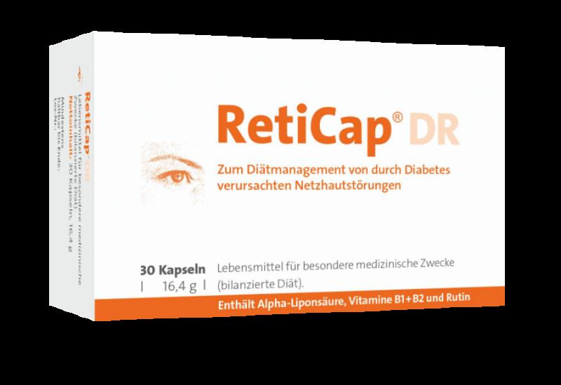 Packshot: Verpackung von RetiCap®DR